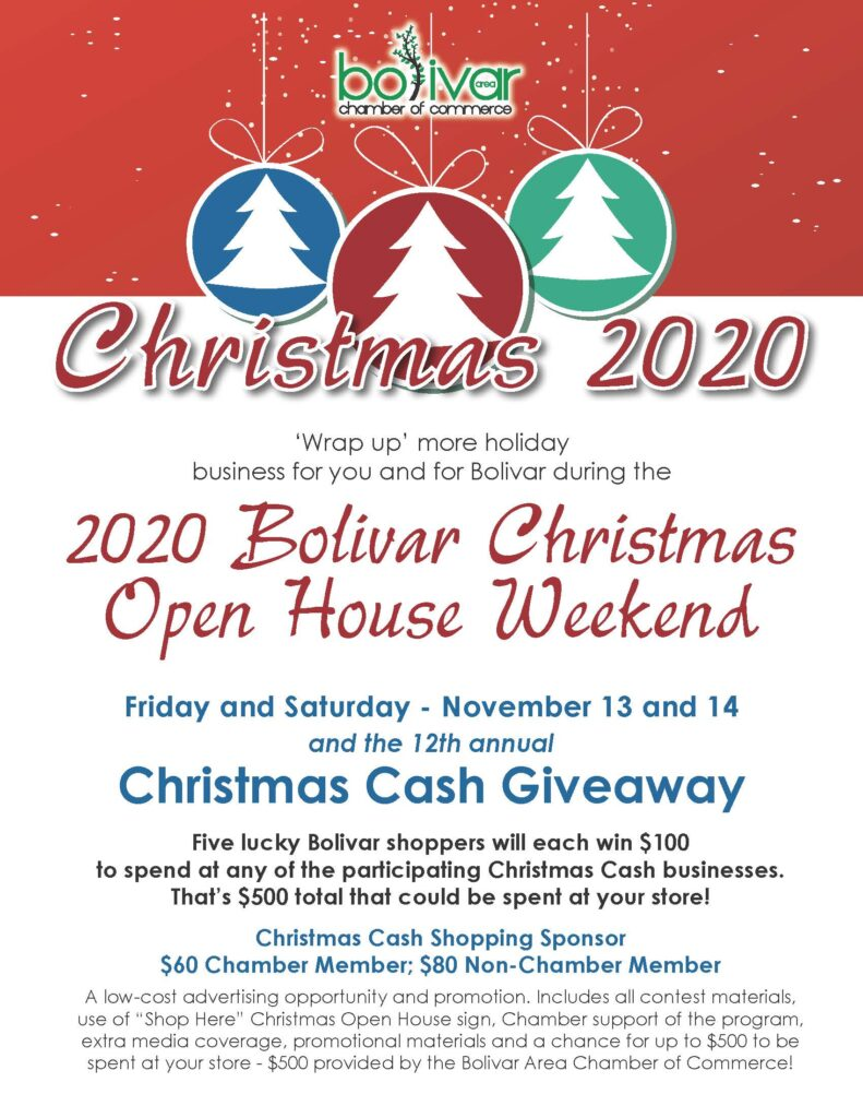 Christmas Open House 2020 Christmas Open House   Bolivar Area Chamber of Commerce